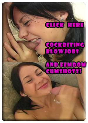 Femdom Cumshots and Cockbiting Blowjobs