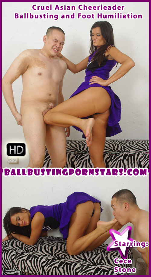 Asian Ballbusting with Cece Stone