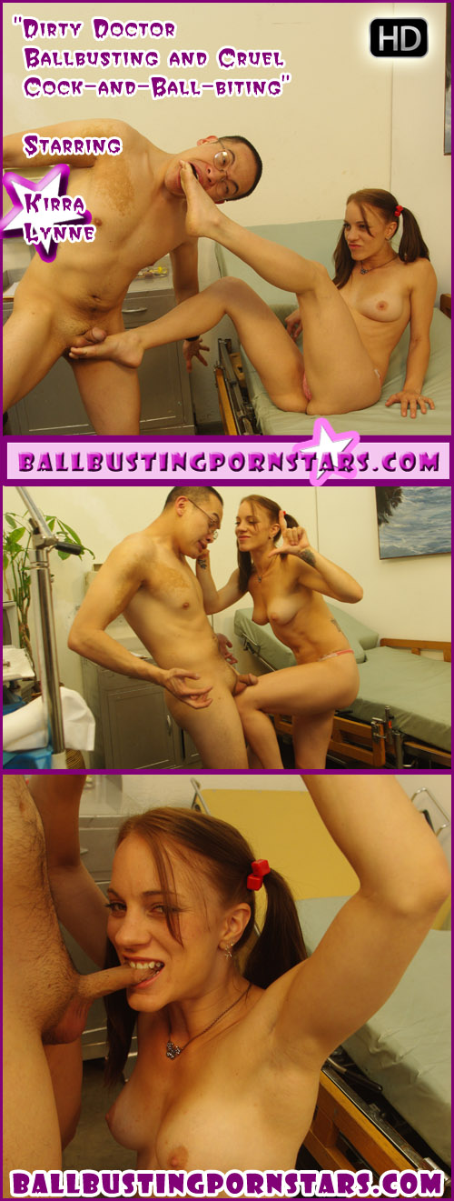 Kirra Lynne does some medical ballbusting with the Deviant Doctor