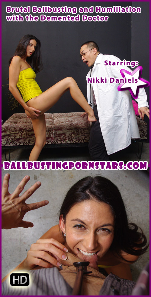 Nikki Daniels Ball Busting and Ball Biting