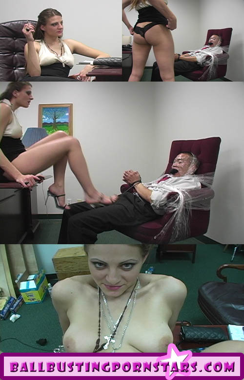 Nikki Nievez Busts balls in the office!