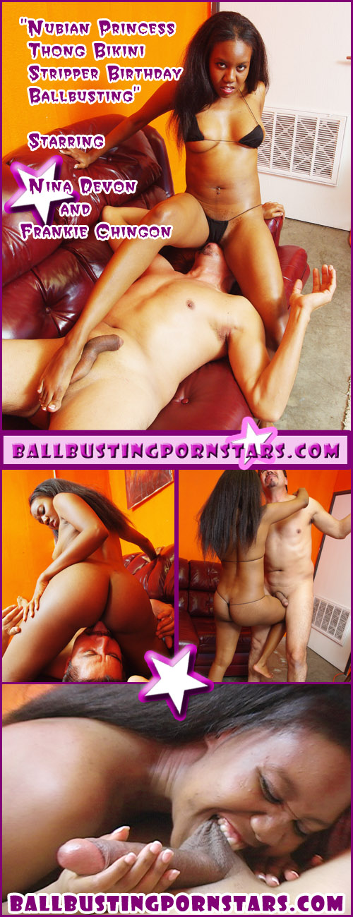 Nina Devon the Nubian Ballbusting Princess