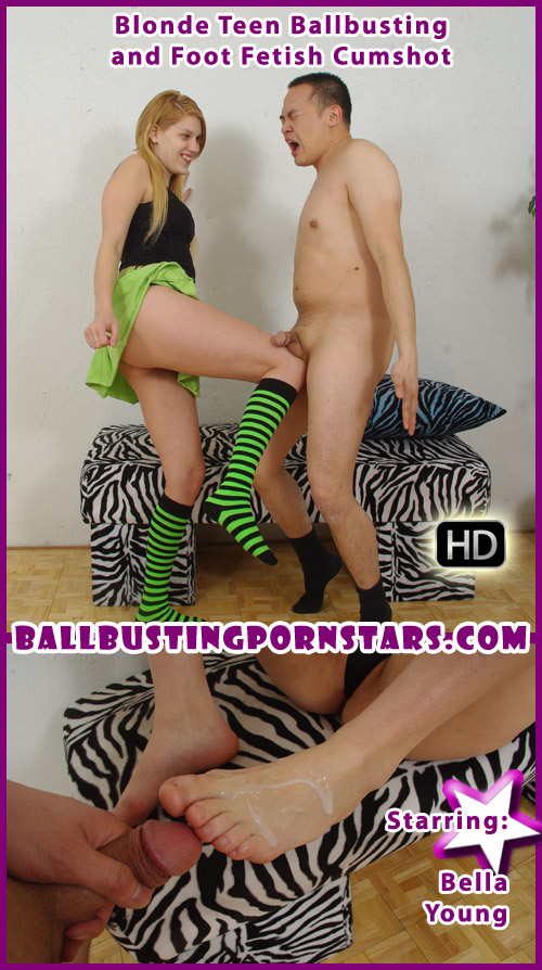 Blonde Teen Foot Fetish Ballbusting
