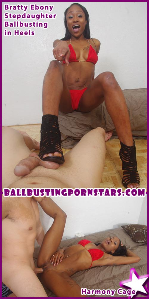 ballbusting ebony